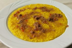 Risotto con lo stinco